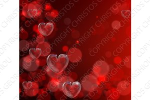 Valentines day heart background
