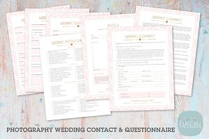 NG015 Photography Wedding Forms