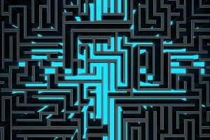 dark wire maze top view
