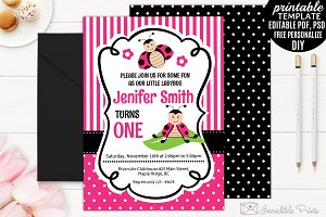 Ladybug Girl Birthday Invitation