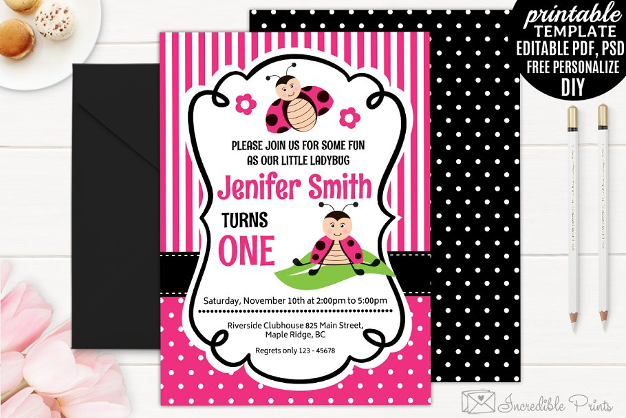 Ladybug Girl Birthday Invitation Templates Creative
