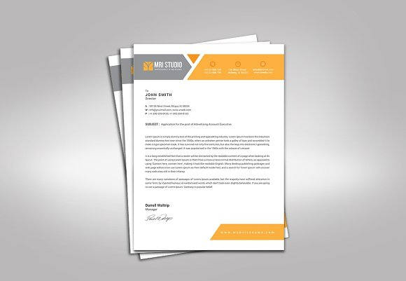 Simple letterhead template stationery templates creative market thecheapjerseys