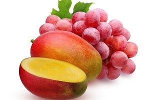 grapes and mango