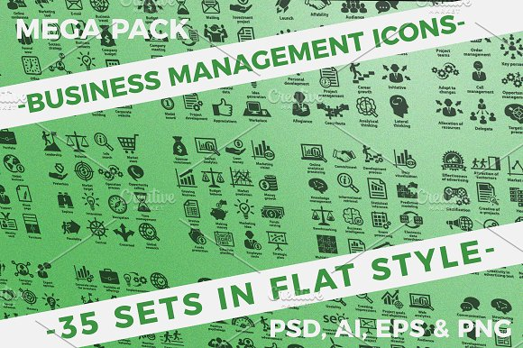 Business Management Icons.Mega Pack