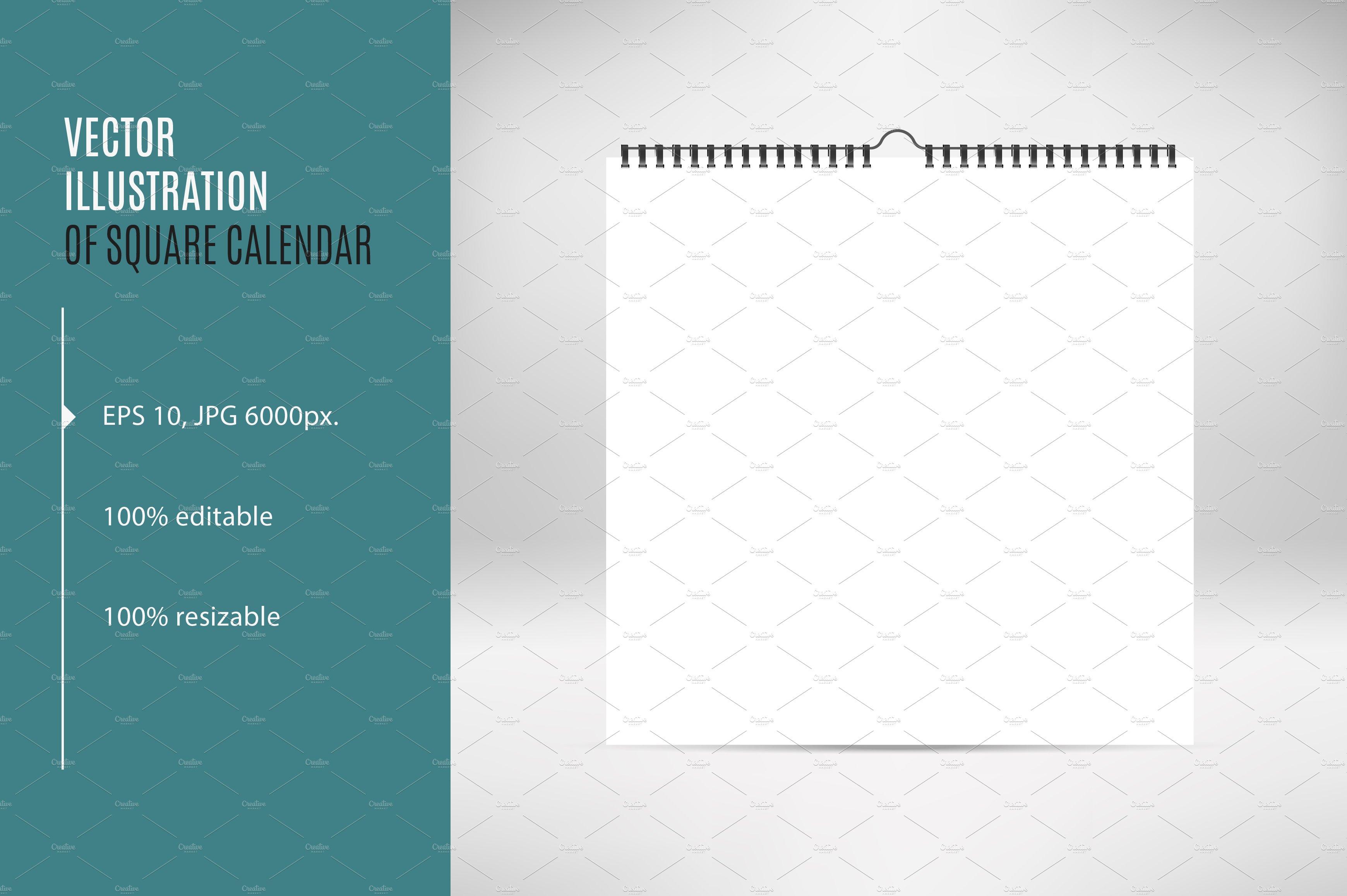 square calendar mock up epsjpg product mockups creative market