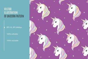 Unicorn seamless pattern. EPS, JPG