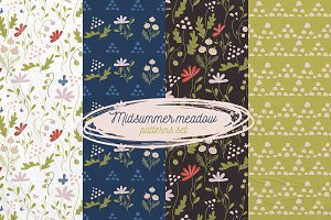 """Midsummer meadow"" patterns set"