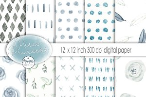 Peace Princess digital Paper Pack