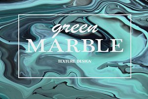 GREEN MARBLE unique tehnique