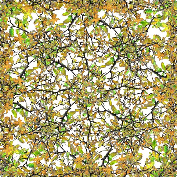 Intricate Nature Collage Seamless Pattern