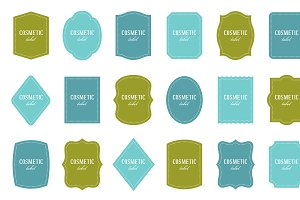 Labels: 18 shapes, different colors