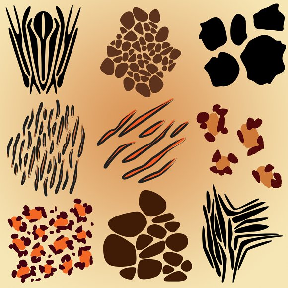 Animal Print Vectors And Clipart Illustrations