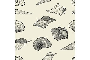 sea vector seamless pattern