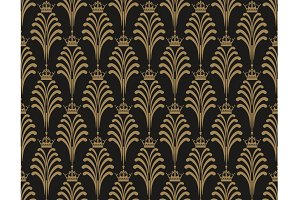 Art deco wallpaper pattern, vector
