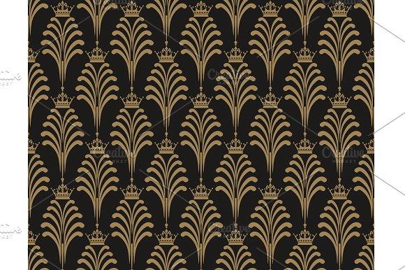 Art Deco Wallpaper Pattern Vector
