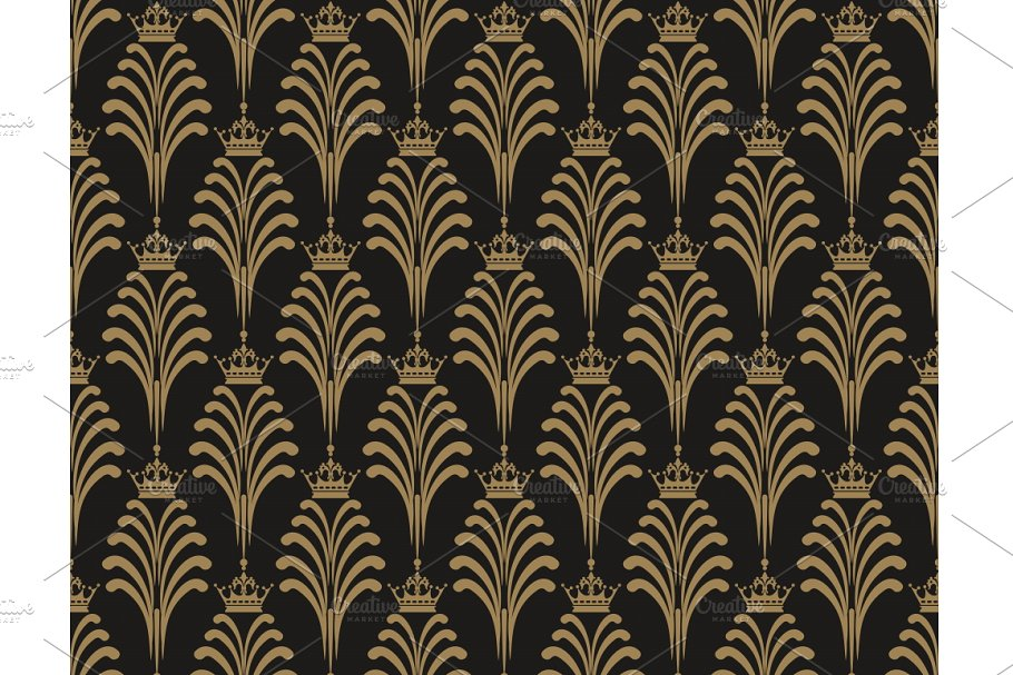 Art Deco Wallpaper Pattern Vector
