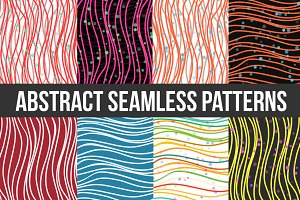 Abstract Striped Seamless Pattern. V