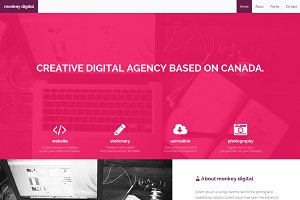 Monkey digital - bootstrap theme