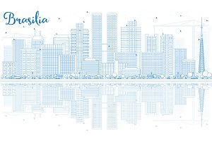 Outline Brasilia Skyline