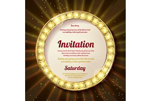 Invitation with a gold decoration