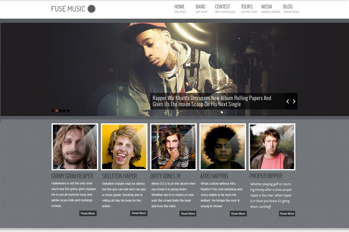 Fuse Music Wordpress Theme