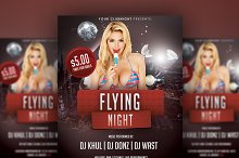 Flying Night - Flyer PSD Template