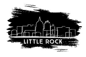 Little Rock Skyline Silhouette.