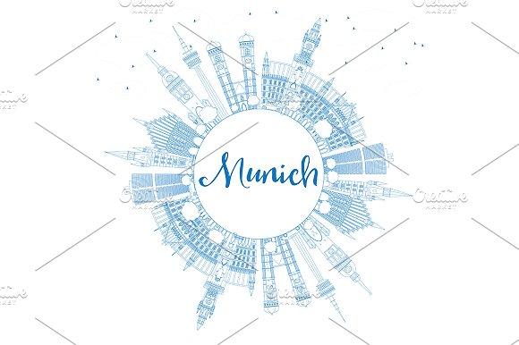 Outline Munich Skyline