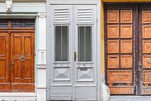 Retro front doors