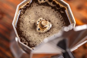 Percolated espresso coffee