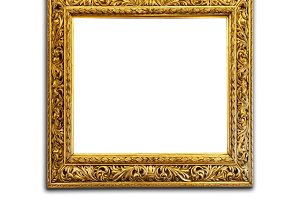 Antique golden picture frame