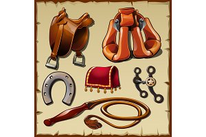 Equipment of the horse rider