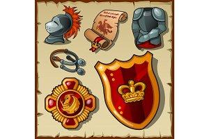 Knight vector set, uniforms and symbols