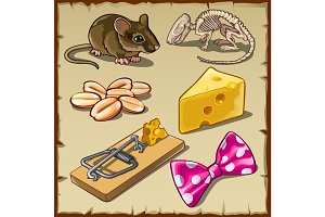 Big mouse set and symbols