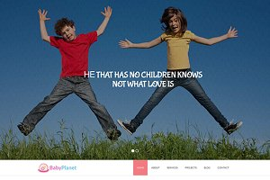 Baby Planet - Kids HTML Theme