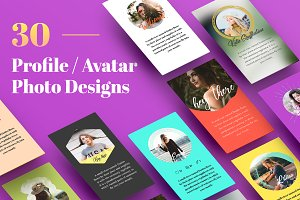 30 Profile / Avatar Photo Designs