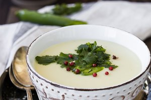 homemade potato cream soup