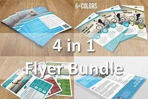Corporate Flyer bundle - 4 in 1-v64