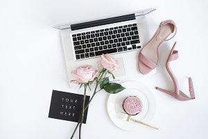 Styled Image. Roses, Cupcake & Heels