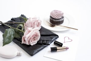 Styled Image, Lipstick & Cupcake