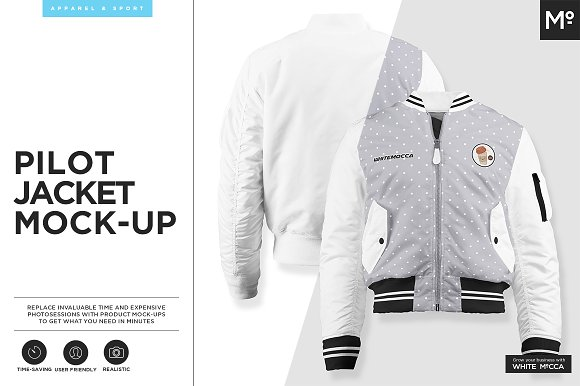 Download The Pilot Jacket Mock-up