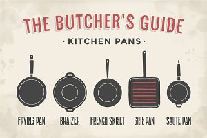 Set of kitchen pans