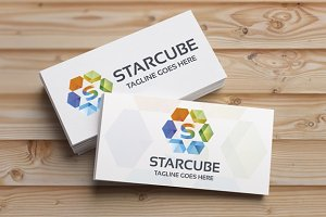 StarCube (Letter S) Logo