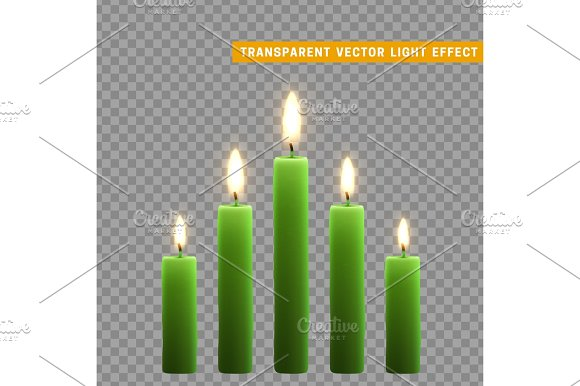 Candles Burn With Fire Realistic