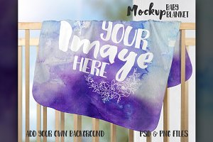Fleece Baby Blanket Mockup
