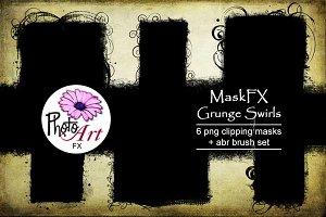 MaskFX: Grunge Swirls