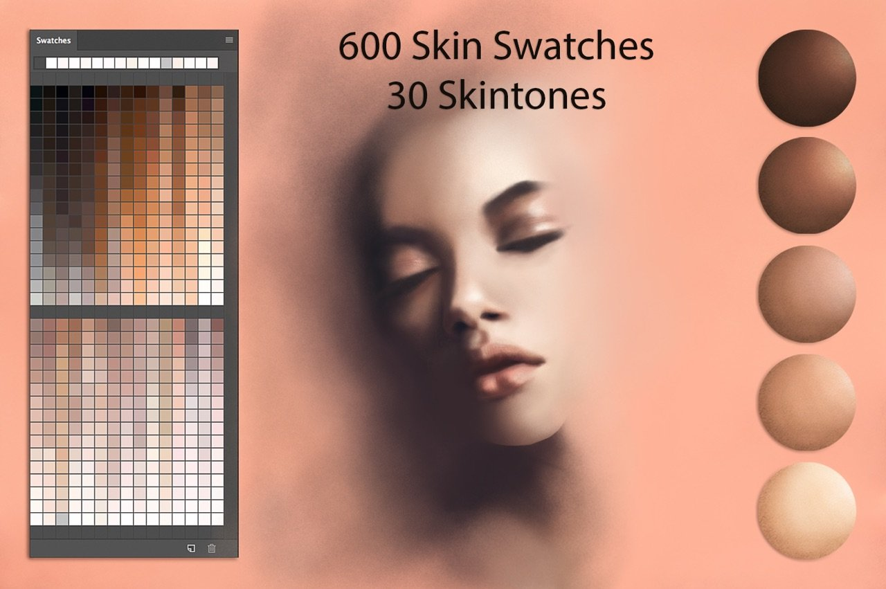 Skin Ps Swatches for DigitalPainting ~ Photoshop Add-Ons ...