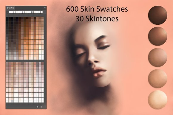 Skin Swatches For Digital Painting