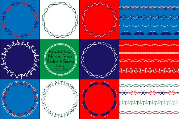 nautical frames borders patterns patterns - Nautical Frames