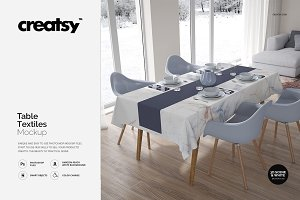 Table Textiles Mockup Set